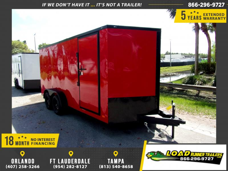 *114053* 7x16 Enclosed Cargo Trailer |LRT Tandem Axle Trailers 7 x 16