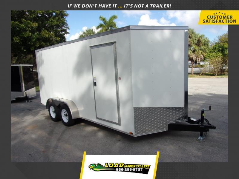 *115800* 7x16 Enclosed Cargo Trailer |LRT Tandem Axle Trailers 7 x 16