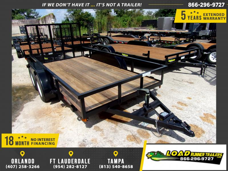 *117471* 6x12 Tandem Axle Utility Trailer With Brakes 6 x 12