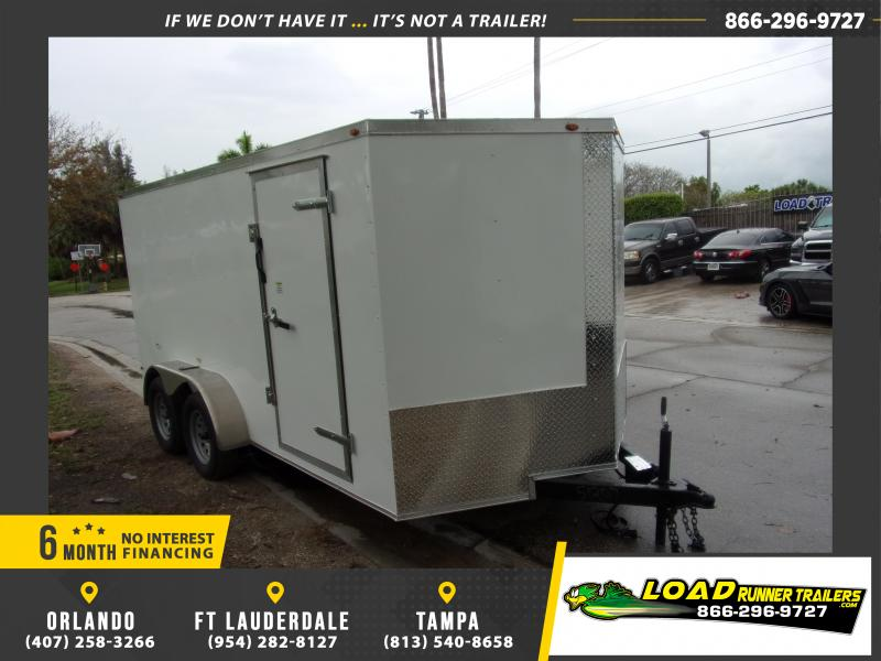 *114906* 7x14 Enclosed Cargo Trailer |LRT Tandem Axle Trailers 7 x 14
