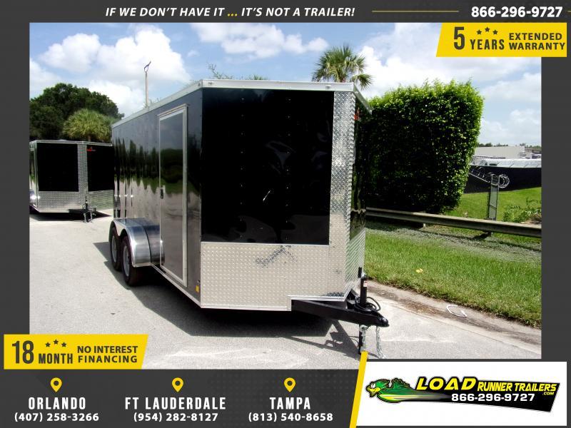 *115844* 7x14 Enclosed Cargo Trailer |LRT Tandem Axle Trailers 7 x 14