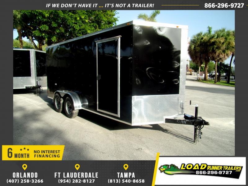 *117192* 7x16 Enclosed Cargo Trailer |LRT Tandem Axle Trailers 7 x 16