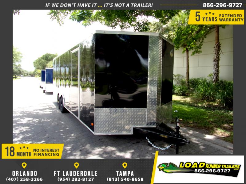 *110021* 8.5x24 Enclosed Cargo Trailer |LRT Tandem Axle Trailers 8.5 x 24