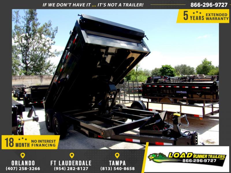 *110322* 7x14 Dump Trailer |LRT Tandem Axle Trailers 7 x 14
