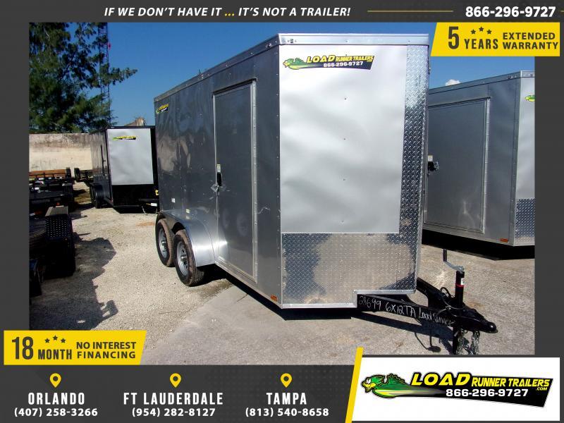 *112344* 6x12 Enclosed Cargo Trailer |LRT Tandem Axle Trailers 6 x 12