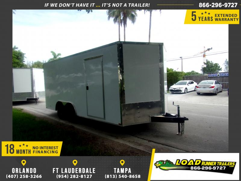 *117173* 8.5x18 Enclosed Cargo Trailer |LRT Tandem Axle Trailers 8.5 x 18