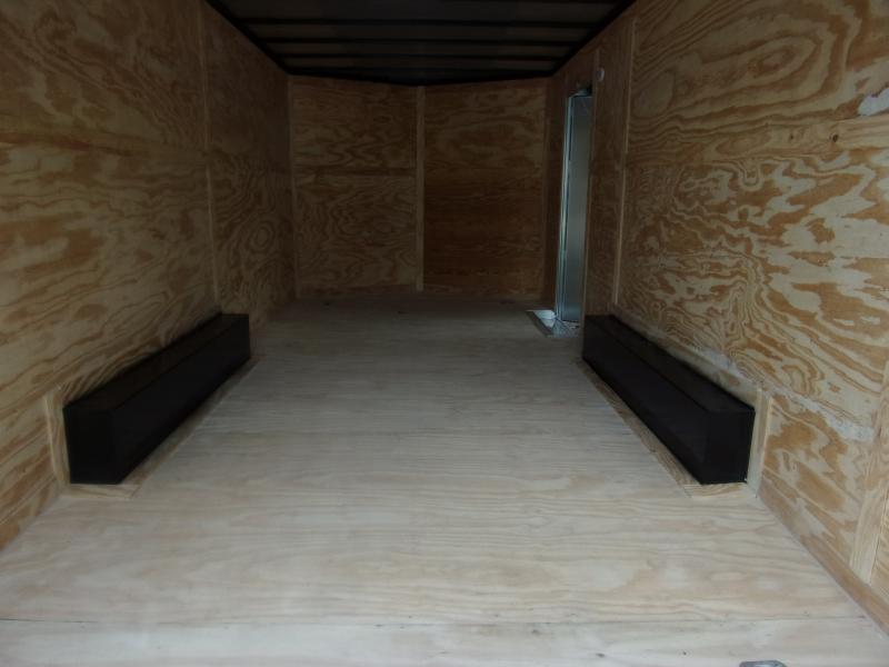 *117173* 8.5x18 Enclosed Cargo Trailer  LRT Tandem Axle Trailers 8.5 x 18