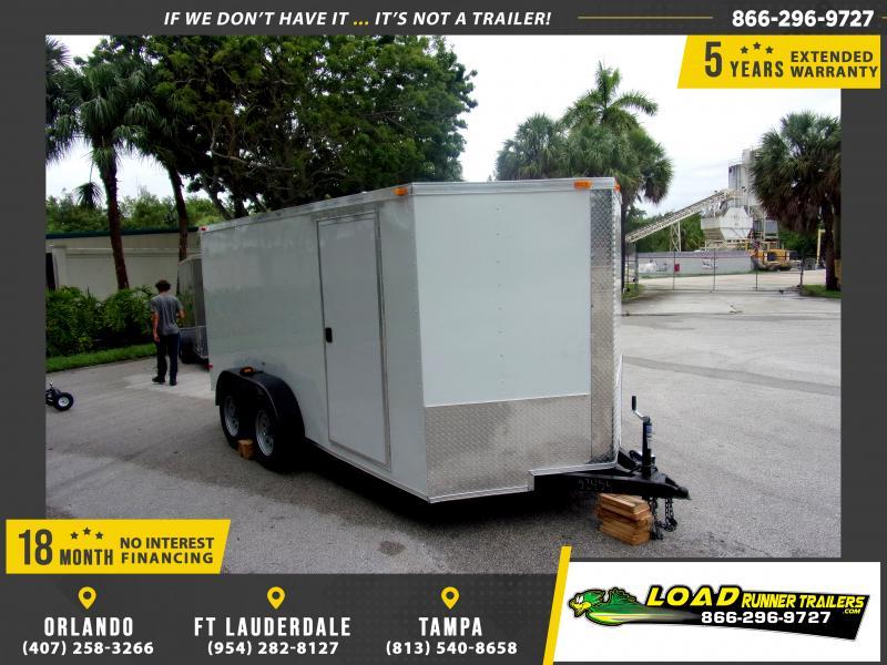 *115989* 7x14 Enclosed Cargo Trailer |LRT Tandem Axle Trailers 7 x 14