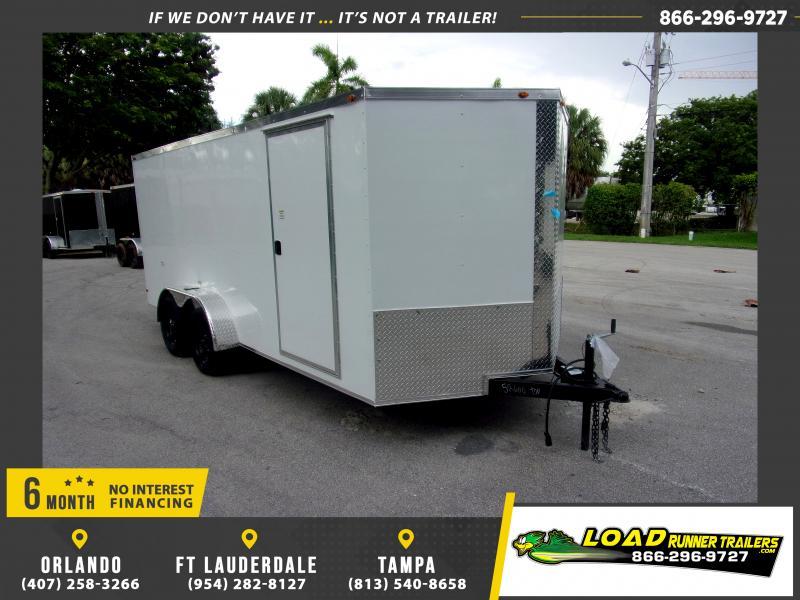 *116512* 7x16 Enclosed Cargo Trailer |LRT Tandem Axle Trailers 7 x 16