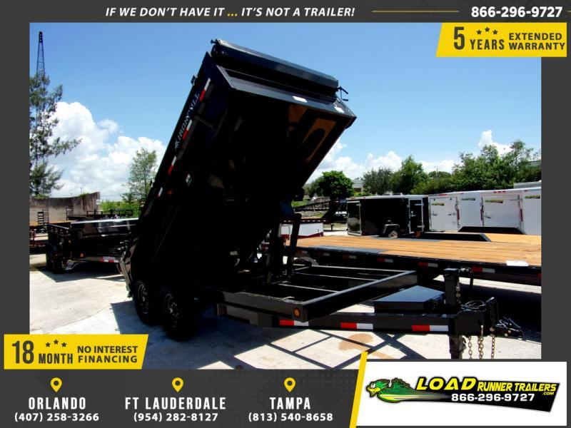 *113947* 7x14 Dump Trailer |LRT Tandem Axle Trailers 7 x 14