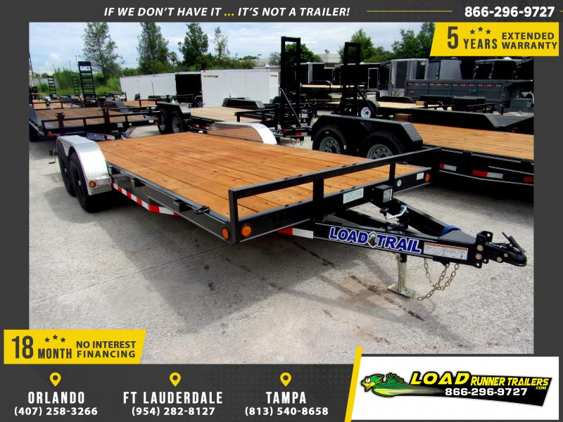 *110645* 7x18 Car Trailer |LRT Tandem Axle Trailers 7 x 18