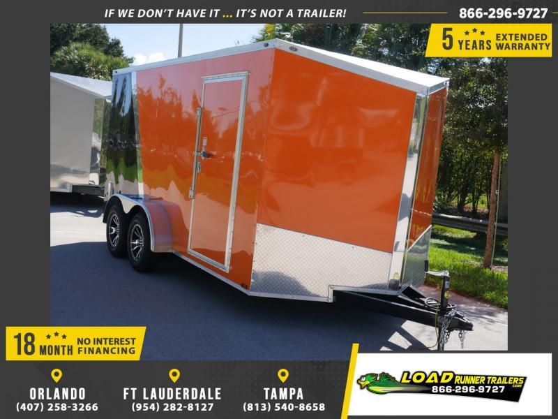 *107998* 7x14 Enclosed Cargo Trailer w/Spider Mag Aluminum Wheels   LRT Trailers 7 x 14