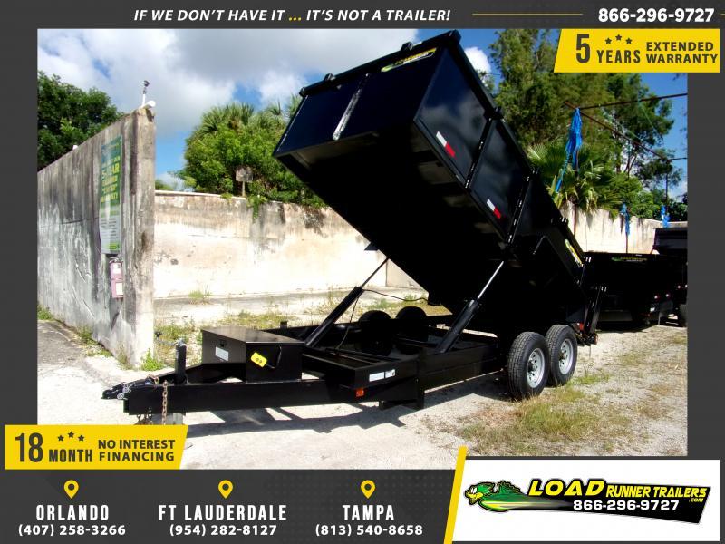 *111114* 7x16 Dump Trailer |LRT Tandem Axle Trailers 7 x 16