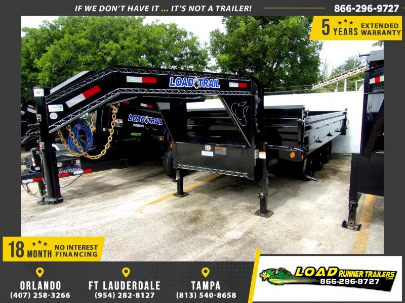 *116759* 8x16 Gooseneck Dump Trailer |LRT Tandem Axle Trailers 8 x 16