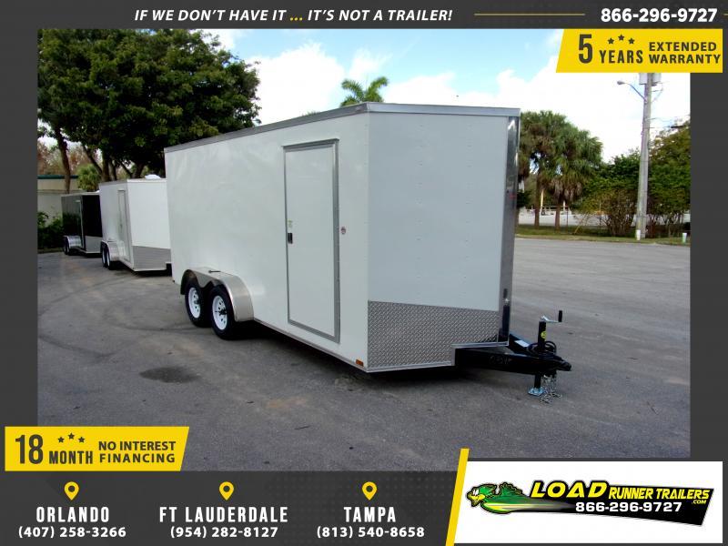*116662* 7x16 Enclosed Cargo Trailer  LRT Tandem Axle Trailers 7 x 16