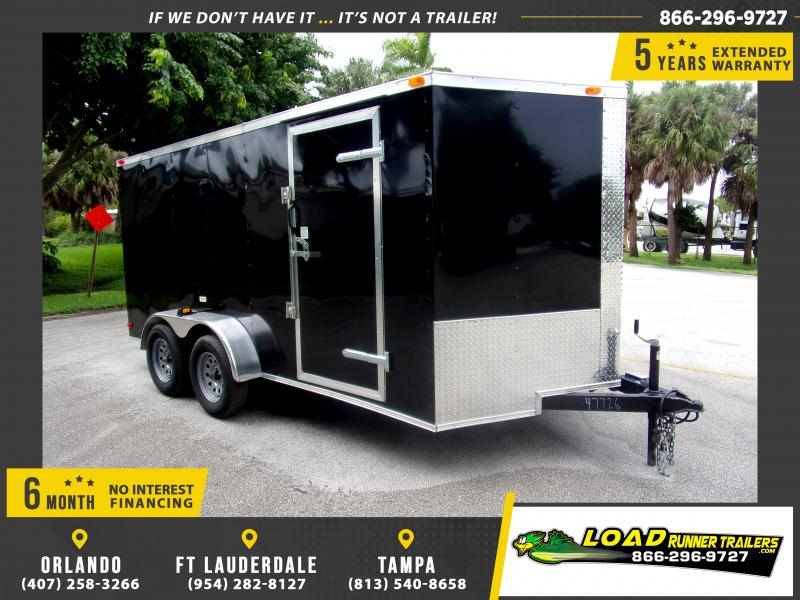 *115943* 7x14 Enclosed Cargo Trailer |LRT Tandem Axle Trailers 7 x 14