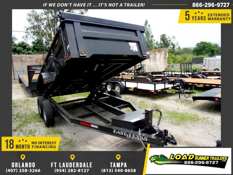 *116856* 7x14 Dump Trailer |LRT Tandem Axle Trailers 7 x 14