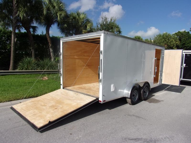 *110560* 7x16 Enclosed Cargo Trailer |LRT Tandem Axle Trailers 7 x 16