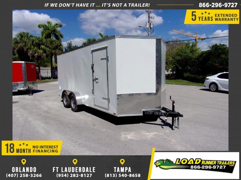 *117998* 7x16 Enclosed Cargo Trailer  LRT Tandem Axle Trailers 7 x 16