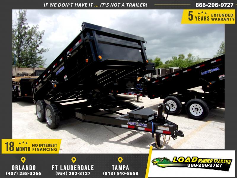 *115915* 7x14 Dump Trailer  LRT Haulers & Trailers 7 x 14