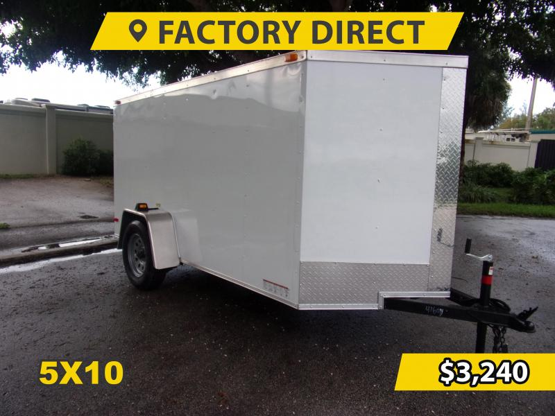 *FD510* 5x10 FACTORY DIRECT!| Enclosed Cargo Trailer |Trailers 5 x 10