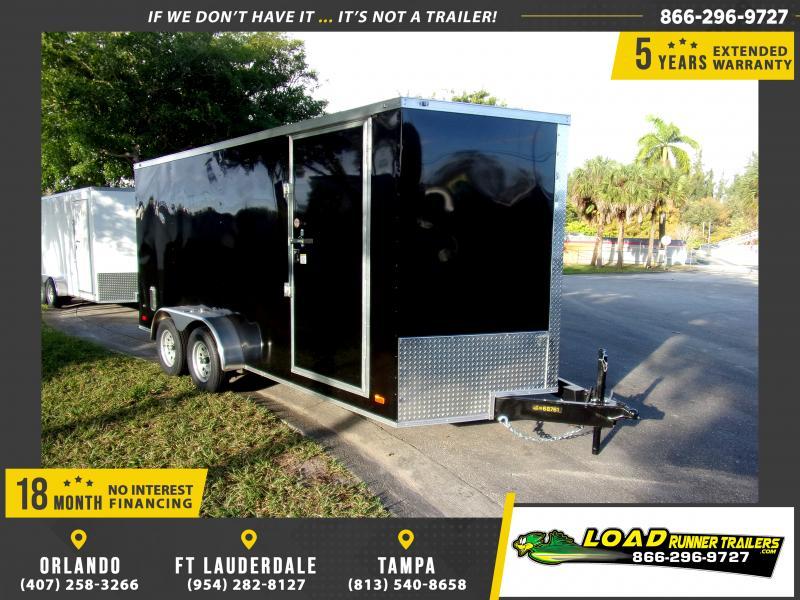 *115874* 7x16 Enclosed Cargo Trailer |LRT Tandem Axle Trailers 7 x 16