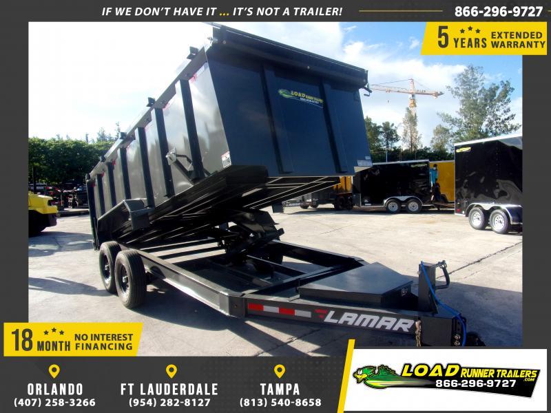 *117859* 7x16 Dump Trailer |LRT Tandem Axle Trailers 7 x 16