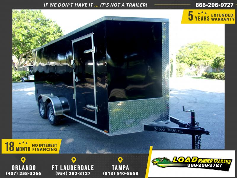 *118137* 7x16 Enclosed Cargo Trailer |LRT Tandem Axle Trailers 7 x 16