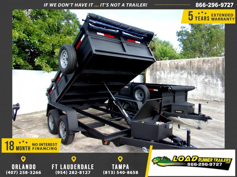 "*111355* 6x10 7K Dump Trailer w/27"" Sides 6 x 10"