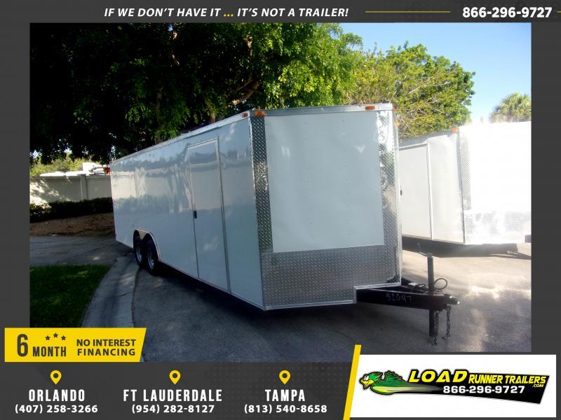 *117464* 8.5x24 Enclosed Cargo Trailer |LRT Tandem Axle Trailers 8.5 x 24