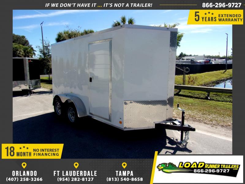 *114870* 6x12 Enclosed Cargo Trailer |LRT Tandem Axle Trailers 6 x 12