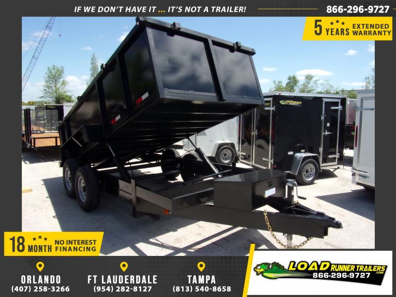 *114988* 7x14 Dump Trailer |LRT Tandem Axle Trailers 7 x 14