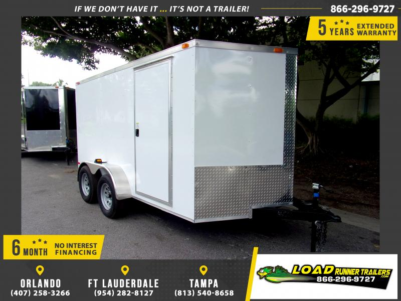 *111264* 7x12 Enclosed Cargo Trailer |LRT Tandem Axle Trailers 7 x 12