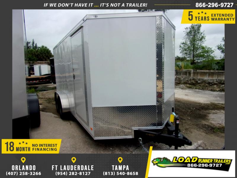 *109818* 7x16 Enclosed Cargo Trailer |LRT Tandem Axle Trailers 7 x 16