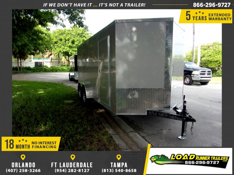 *111883* 7x16 Enclosed Cargo Trailer |LRT Tandem Axle Trailers 7 x 16