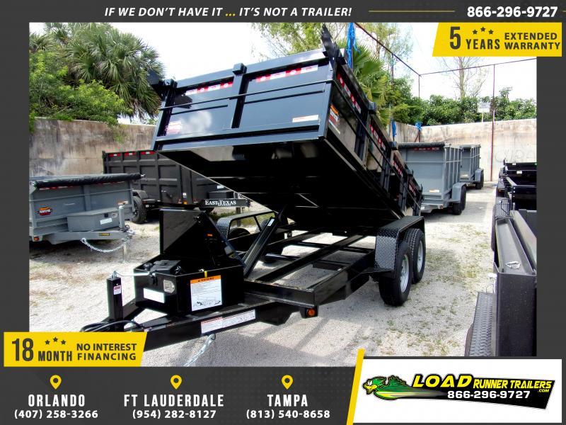 *114365* 6x12 5 TON Dump Trailer |LRT Trailers & Dumps 6 x 12