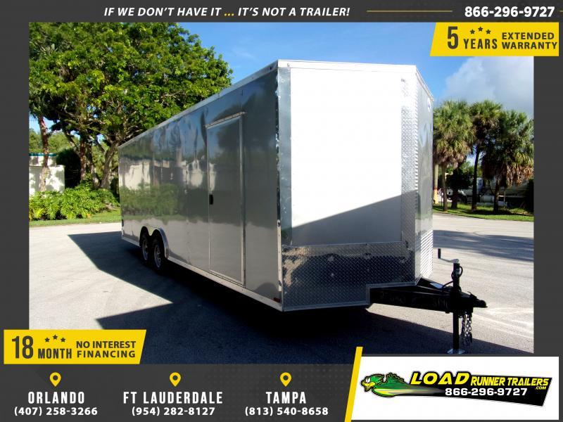 *116458* 8.5x24 Enclosed Cargo Trailer |LRT Tandem Axle Trailers 8.5 x 24