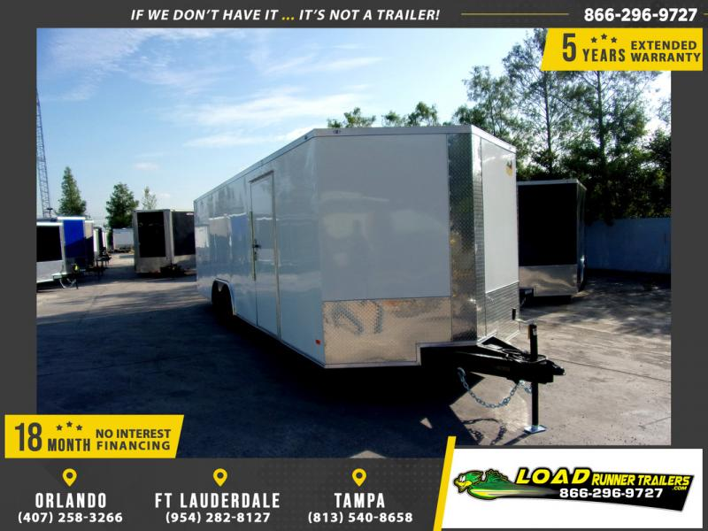 *109895* 8.5x24 Enclosed Cargo Trailer |LRT Tandem Axle Trailers 8.5 x 24