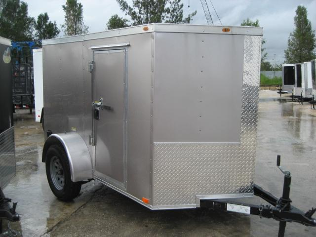 *E1D* 5x8 Enclosed Cargo Trailer Rear Door | Rounded Front 5 x 8 | EV5-8S3-DD