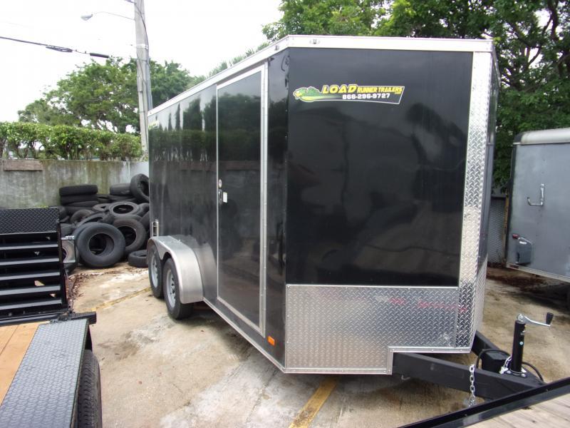 *116019* 7x14 Enclosed Cargo Trailer |LRT Tandem Axle Trailers 7 x 14