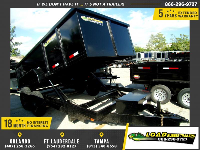 *118014* 7x14 Dump Trailer |LRT Tandem Axle Trailers 7 x 14