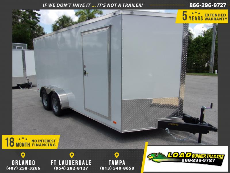 *115077* 7x16 Enclosed Cargo Trailer |LRT Tandem Axle Trailers 7 x 16