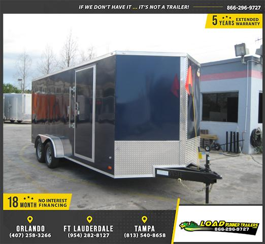 *E15* 7x18 Enclosed Cargo Trailer Tandem Axle Box 7 x 18 | EV7-18T3-R