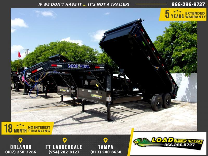 *114581* 7x16 Gooseneck Dump Trailer |LRT Tandem Axle Trailers 7 x 16