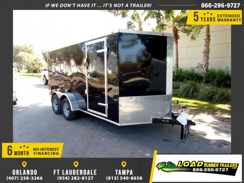 *113440* 7x14 Enclosed Cargo Trailer |LRT Tandem Axle Trailers 7 x 14