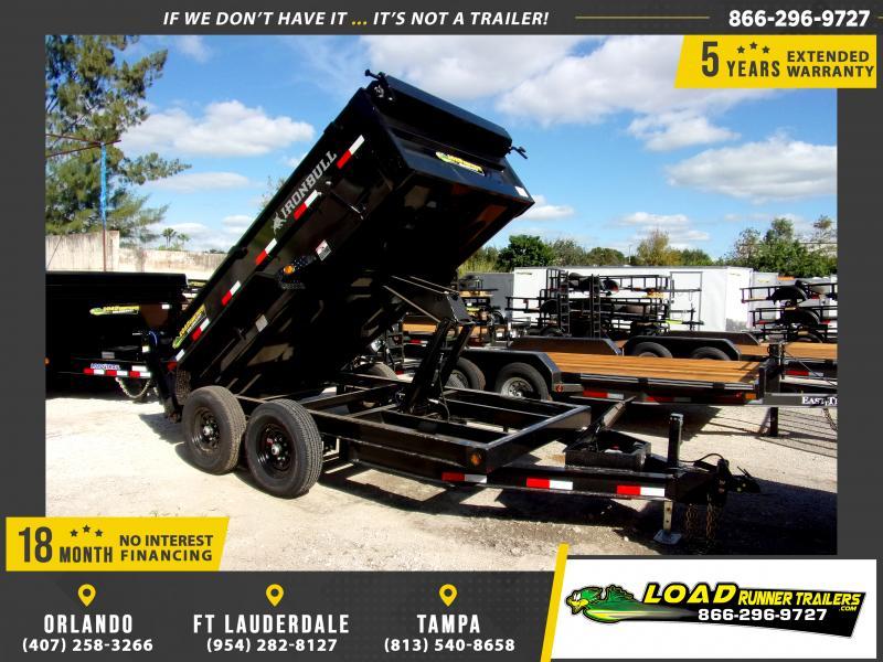 *112704* 6x12 Dump Trailer |LRT Tandem Axle Trailers 6 x 12