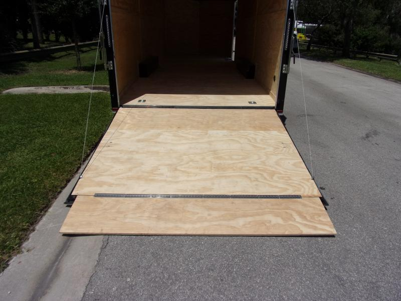 *117365* 8.5x24 Enclosed Cargo Trailer  LRT Tandem Axle Trailers 8.5 x 24
