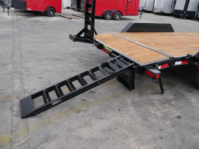 *EQ13* 7x18 7 TON Equipment & Car Hauler Trailer |LR Trailers 7 x 18 | EQ83-18T7-KR