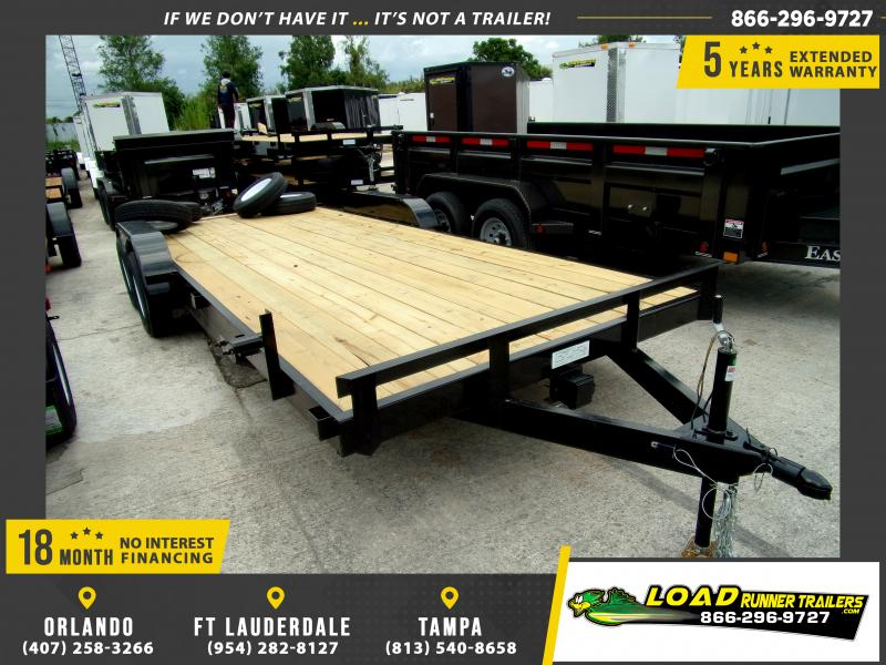 *116604* 7x20 Car Trailer  LRT Tandem Axle Trailers 7 x 20