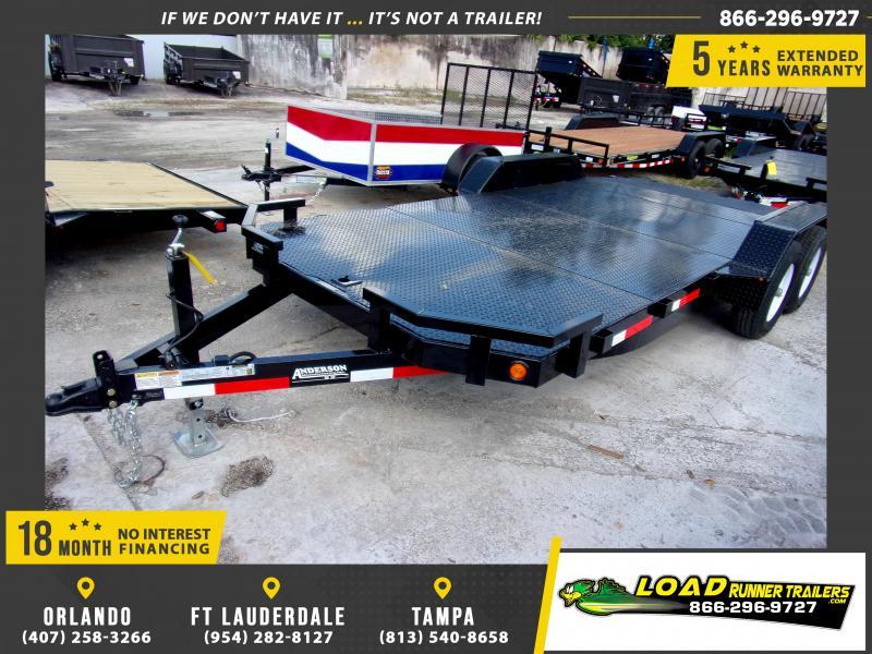 *111565* 7x18 5 TON Steel Deck Car Hauler Trailer 7 x 18